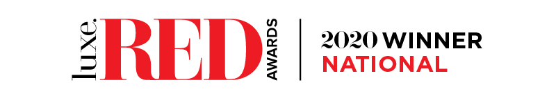 2020 Luxe RED National Winner logo