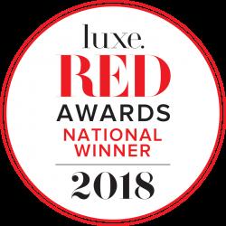 2018 Luxe RED National Winner logo
