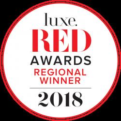 2018 Luxe RED Regional Winner logo